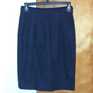 Tory burch navy pencil skirt